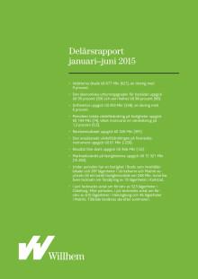 Willhems delårsrapport januari-juni 2015