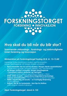 Studentbrosjyre Forskningstorget Aqua Nor 2019