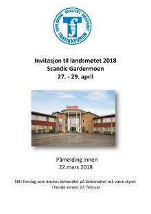Invitasjon til landsmøtet 2018