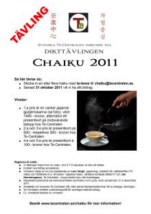 Inbjudan till Chaiku 2011