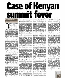 A case on Kenyan summit fever