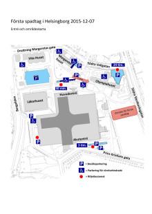 Entré- och områdeskarta för första spadtaget