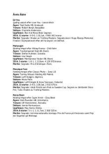 Hästgalan, nominerade, söndag