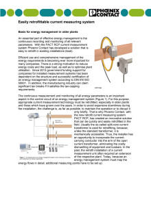 Easily retrofittable current measuring system
