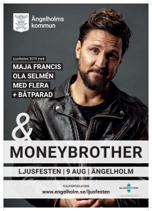 Affisch Ljusfesten 2019 med Moneybrother