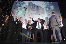 Stort jubel för vinnaren av Årets Bygge 2017