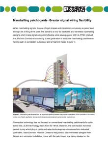 Marshalling patchboards- Greater signal wiring flexibility