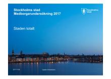 Stockholms stad Medborgarundersökning 2017