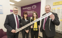 Macular Society ambassador battling rare Stargardt disease cuts ribbon to officially open new Sutton Coldfield optician