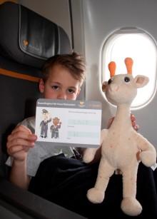 Børnenes krammedyr får boardingkort på ferieflyet