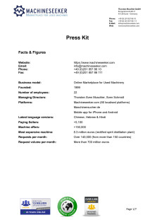 Press Kit Machineseeker (PDF)