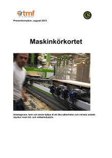 Pressinformation Maskinkörkortet