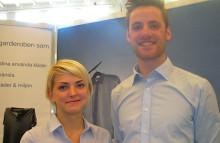 Emelie Gustafsson från Kristianstad och Niklas Brodin från Helsingborg – prisbelönta uppfinnare