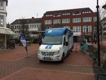Beratungsmobil der Unabhängigen Patientenberatung kommt am 3. Juli nach Schleswig.