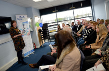 Mayor congratulates Larne company as they open new premises