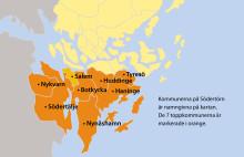 Bästa Tillväxt 2016: 7 av 10 toppkommuner finns i södra Stockholm