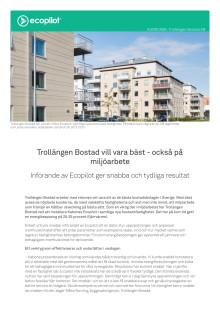 Kundcase: Trollängen Bostad vill vara bäst - också på miljöarbete