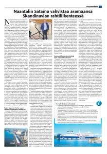 Yritysmaailma 2/2020: Naantalin Satama, satamajohtaja Yrjö Vainialan artikkeli