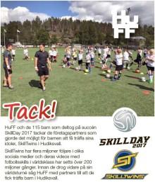 Se filmen om SkillDay 2017. Med SkillTwins, 115 barn och HuFF i Hudiksvall. Tack alla som bidrog!