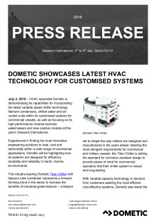 Dometic Showcases Latest HVAC Technology for Customised Systems