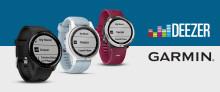 Nu blir Deezer tillgängligt på Garmins senaste bärbara enheter Lyssna på musik med Deezer på vívoactive® 3 Music, Forerunner® 645 Music och fēnix® 5 Plus serien