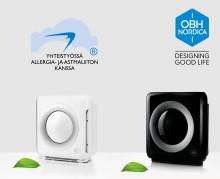 Kevään allergiasesonkiin uudet ilmanpuhdistimet OBH Nordicalta