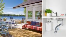 Oras Safira kjøkkenkran for fritidsbolig vist på Sommerhytta på TV2