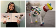 Arty Alice and Thameslink highlight positive mental health message through quirky cow sculpture