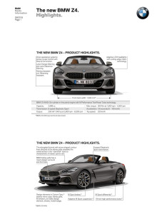 Den nye BMW Z4 - Highlights