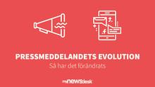 Pressmeddelandets evolution - så har det förändrats