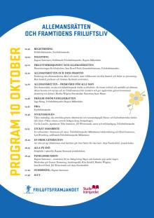 Program Friluftskonferens 10 oktober 2013