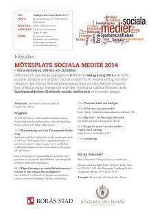 Inbjudan Mötesplats sociala medier 2014
