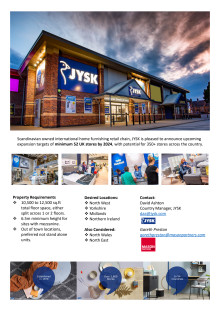 JYSK Expansion - Property Requirements
