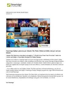 Smartsign hjälper gästerna på Atlantis The Palm i Dubai att hålla reda på vad som händer