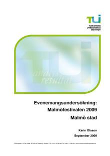 Evenemangsundersökning Malmöfestivalen 2009 (Turismens Utredningsinstitut)