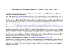Complex Event Processing Market is Expected to Witness a Steady Growth by 2024