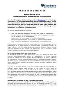 Pressemitteilung: Smartphone heute unverzichtbarer als Zahnbürste