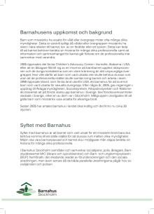 Informationsblad Barnahus Stockholm