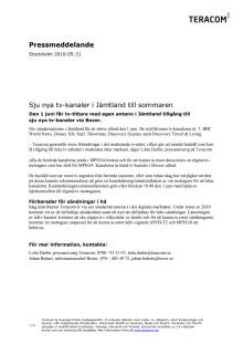 Sju nya tv-kanaler i Jämtland till sommaren