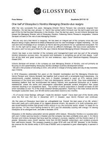 Press release ENG