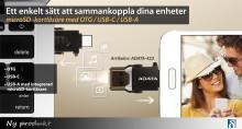 Smart microSD-kortläsare med OTG och USB-C