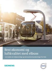 En ny studie - Elbusser kan spare Oslo for inntil en milliard kroner