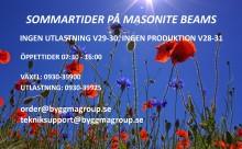 Sommartider på Masonite Beams