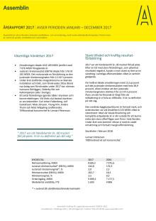 Assemblins Årsrapport 2017