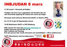 Inbjudan till lunch och försnack inför HuFF vs IFK Göteborg 8 mars - Svenska Cupen