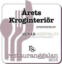 Senab Hospitality kategoripartner Årets Kroginteriör - Restauranggalan 2015