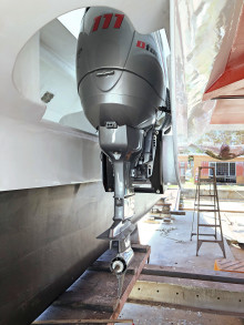 Innovative Twin Dtorque Outboard Solution Repowers Hitchhiker Sailing Catamaran
