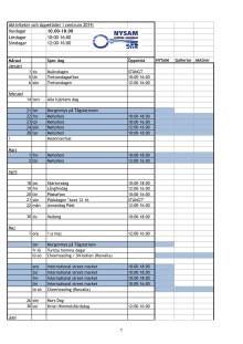 aktivitetsplan öppettider 2019