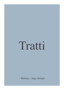 Tratti - Keramiska plattor av Inga Sempé för Mutina