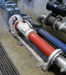 New Larox progressive cavity pump is pumping municipal waste in dumping ground